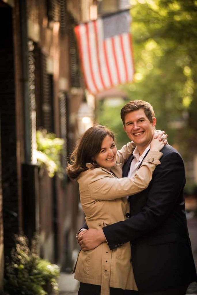 engagement photos at acorn street