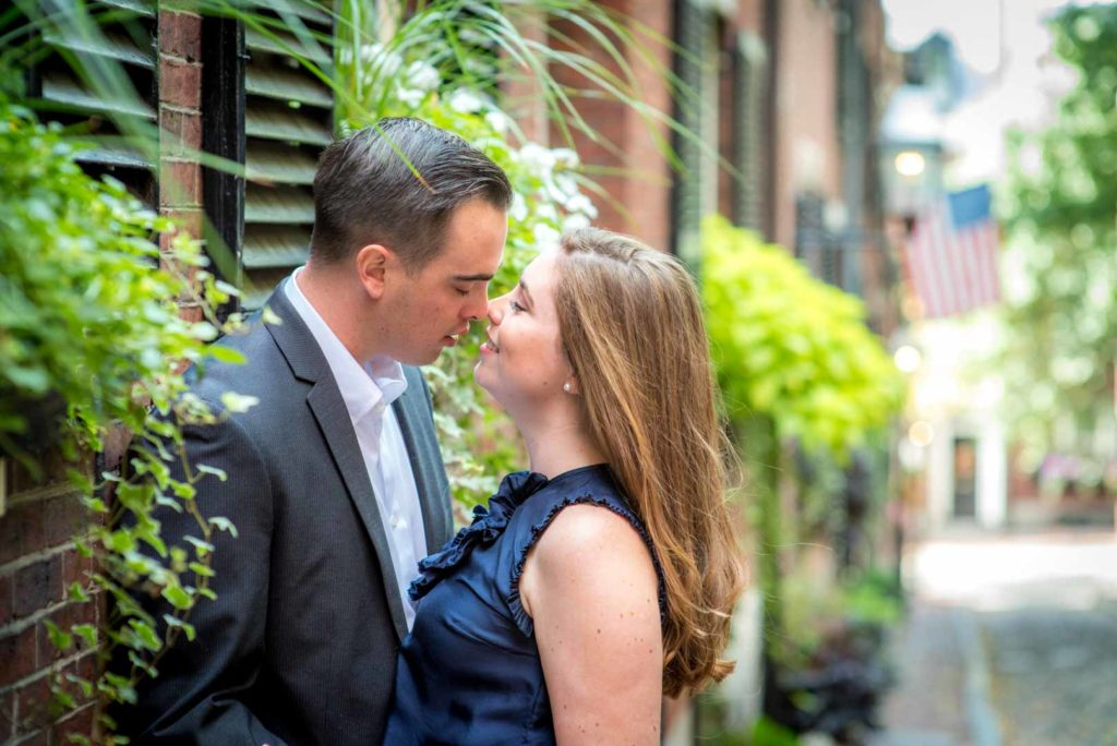 engagement photos on acorn street