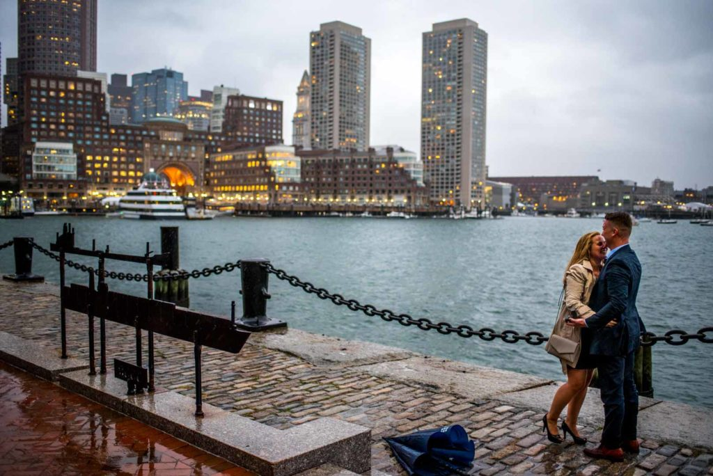 engagement photo at seaport
