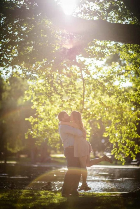 sunset engagement lovely lighting