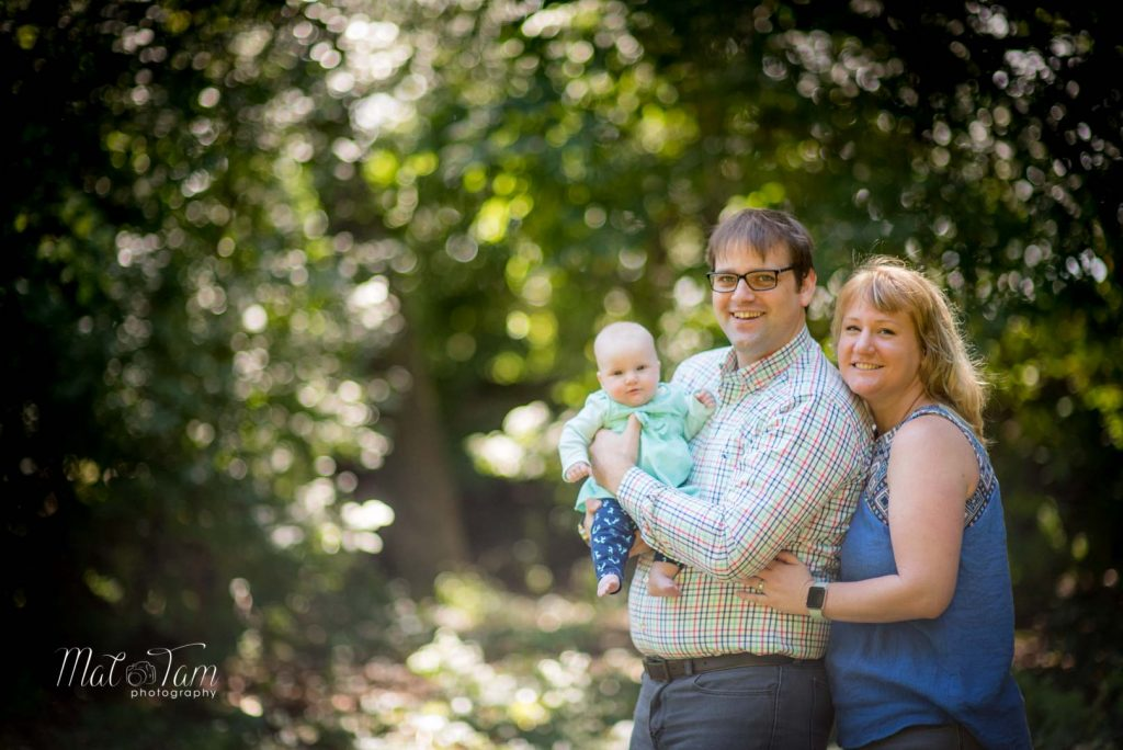 4 month old girl photos session at shannon beach in Winchester, MA with parents. Family photo. With dad and Mum