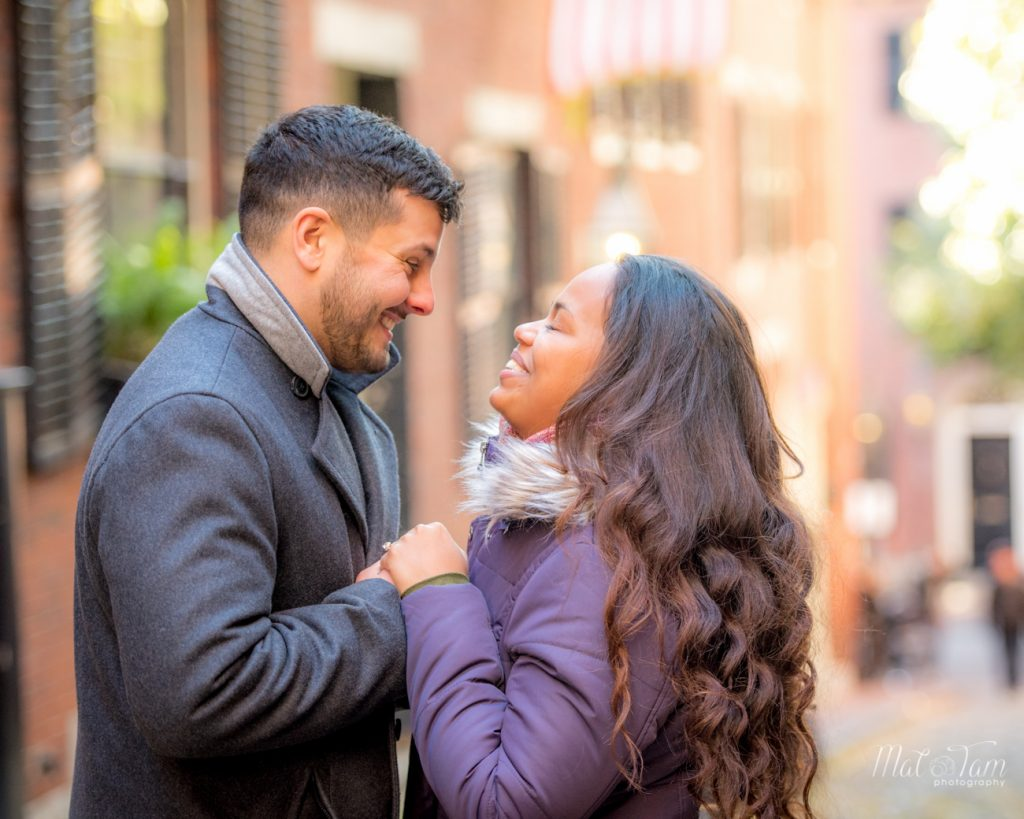 the joy from a newly engaged couple