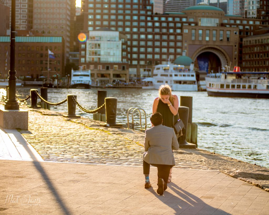 Golden hour wedding proposal, the beginning of a happily married life
